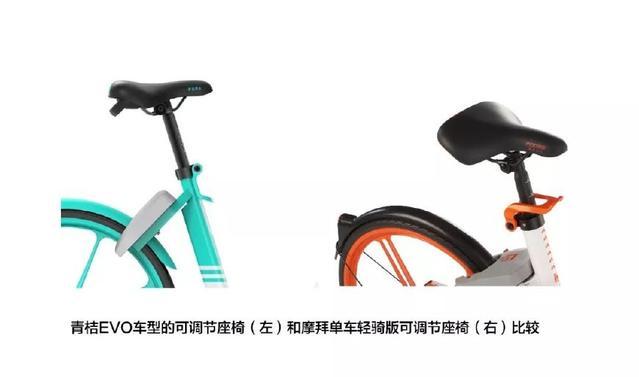 青桔EVO车型的可调节座椅&摩拜单车轻骑版可调节座椅